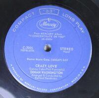 Soul Compact 33 45 Dinah Washington - Crazy Love / Fool That I Am On Mercury