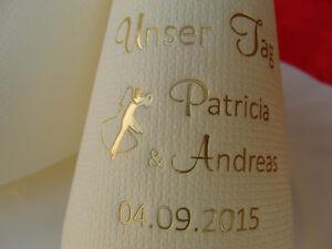 ♥ Angebot Hochzeit: 100 bedruckte Premium Dinner-Servietten mit Namen / Geschenk