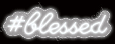 "New #Blessed White Neon Sign Acrylic Gift Light Lamp Bar Decor 20""x10"""