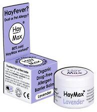 HayMax HAY FEVER ALLERGEN BARRIER BALM - LAVENDER -  ORGANIC - DRUG FREE - AUS