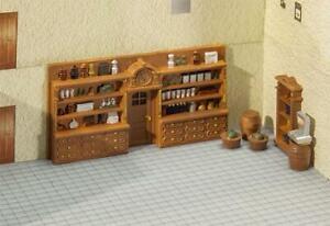 Faller HO Scale Scenery Accessory Kit Vintage Store Interior Shelve/Barrel/Goods