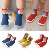 Unisex Animal Style Fox Tiger Baby Toddler Shoes Sock Thicken Foot Socks