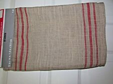 Primitive Summer Heritage Table Runner Soft Burlap with Red Stripe by Ashland