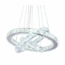 Dixun 43238-149827 3 Rings LED Crystal Chandeliers Ceiling Light