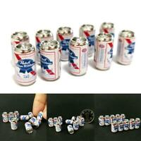 10Pcs/Set Beer Cans 1/12 Dollhouse Miniature Scene Model Mini Beer Cans Kid Toys