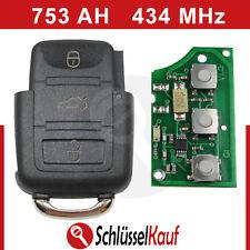 VW Skoda Sendeeinheit Schlüssel Fernbedienung Klappschlüssel 1J0959753AH 434 Mhz