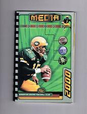2000 Edmonton Eskimos Media Guide  Greene Cover Coil Bound