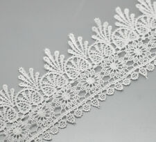 5 yds Lace Embroidered Floral Trim 95mm Wide Wedding Dress Clothes Sewing Craft
