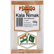 Fudco Negro Sal/Kala Namak polvo (SIMS) - 100g-Calidad Premuim