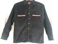 Kids Boys Size XLB Vintage Black Cord 90'S BUTTON UP Jacket Fleece lining Winter