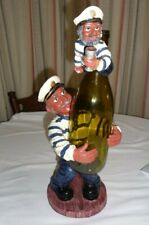 Sea Ship Captain Sailor Resin Liquor Wine Bottle Holder