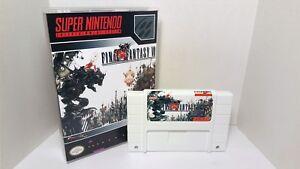 Final Fantasy VI 6 - English SNES Translation NTSC - White Cartridge FF