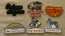 6 Pc Lot Vintage Rubber Fridge Magnets Arizona Phoenix Zoo Grand Canyon Oatman