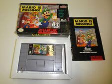 MARIO IS MISSING COMPLETE SUPER NINTENDO SNES GAME NES HQ BOX #B
