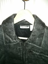 DKNY Leather Jacket Coat Size Small