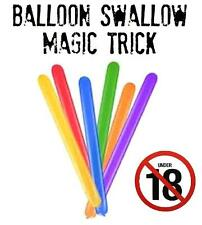 Balloon Swallow magic trick illusion. comedy/close up/stage 18+