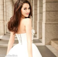 Sweetheart Neckline Occasion Evening Party Sequin Ballerina White Dress 30209