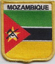 Mozambique Flag Shield Embroidered Patch Badge