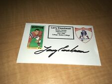 Larry Eisenhauer Boston Patriots Signed Custom Made Index Card W/Our COA