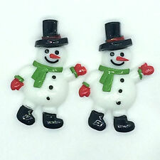 5pcs Christmas snowman green scarves hats leaf embellishment scrapbooking1