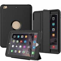 3 Layer Case Drop Proof Auto Sleep Smart Cover Protective Leather Stand for iPad