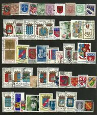 COATS OF ARMS / CREST  THEMED STAMPS OFF PAPER X 50  - GOOD MIX - ALL DIFFERENT