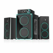 ineo Wooden 2.1 Gaming/PC Speakers with Subwoofers and Control Box (W403)