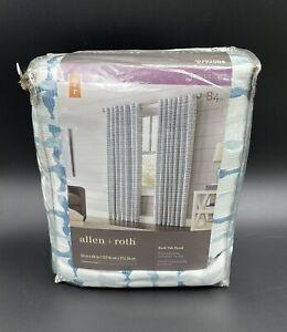 Allen + Roth Nelliston Indigo Back Tab Panel 0792504 54 in x 84 in New