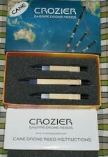 Crozier Cane Drone Reeds for pipes highland bagpipe 2 tenors 1 bass