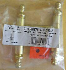2 cerniere a bussola Anuba acciaio Ottonato mm 14x94 cerniera bussola italia new