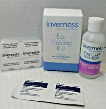 Inverness Ear Piercing Kit STAINLESS STEEL, Including ear care solution 2 oz