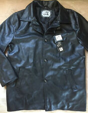 Men's A Collezioni Black Faux Leather Jacket Size L Made In Italy New