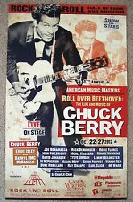 RARE CHUCK BERRY BOXING STYLE ROCK HALL MUSIC MASTERS CLEVELAND TRIBUTE POSTER