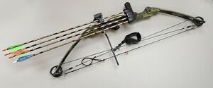 """Bear Magnum Hunter Compound Bow (RH) 50"""" 60# w/ Arrows & Easy Release"""