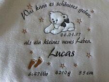 Babydecke mit Namen bestickt*Kinderdecke,Geburt,Taufe,Kuscheldecke,