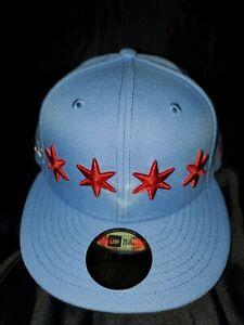 CHICAGO BULLS NEW ERA 59 FIFTY LEAGUE POP PURPLE FITTED MENS HAT SZ 7 20976522