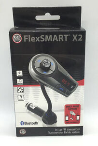GOgroove X2 Bluetooth In-Car FM Transmitter USB Charging Phone Handsfree Multi