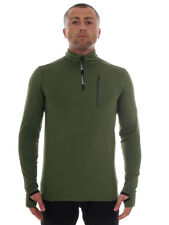 Brunotti Fleece Pullover Function Top Long Sleeve Green Thin Wetcat