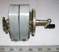 RARE UNUSUAL KELLOGG Vintage 2-Bar Metal Hand Crank Magneto Generator # I-48
