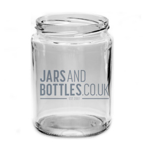 500ml Panelled food Jam Jars perfect for pickles, chutnes & preserves inc caps