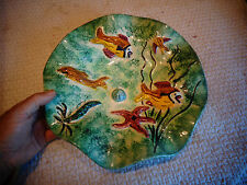 """Corrugated tray to hang """"shell fish and crustacean"""" souvenir edges of sea"""