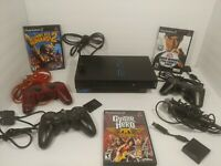 Sony Playstation 2 (PS2 Fat) Original Console System Bundle SCPH-30001 3 Games +