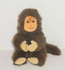 Vintage 1994 Hosung Brown Monkey Plush Tan Flocked Face EUC P68