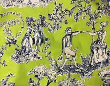 RPA360E The Romantics Dia De Los Muertos Skeleton Toile Cotton Quilt Fabric