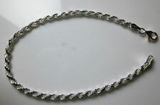 STERLING SILVER 925 DOUBLE ROPE STYLE BRACELET FITS EUROPEAN  CHAMILIA CHARMS