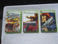 Lot of 3 Xbox 360 games Stuntman Ignition + Stranglehold + Perfect Dark Zero