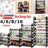 4/6/8/10 Tier Shoe Storage Shelf Rack Stand Organizer 12/18/24/30 Shoes Pairs