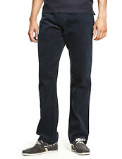 M&S Mens PURE Cotton 5 Pocket CORDUROY Trousers 38 Waist 29 L NAVY Cords *BNWT*