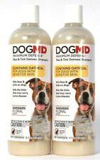 2 DogMD 16 Oz Max Defense Flea & Tick Oatmeal Hawaiian Floral Shampoo Sensitive