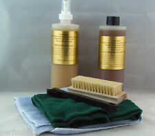 LEATHERIQUE LEATHER RESTORATION REJUVENATOR OIL PRESTINE CLEAN 16OZ KIT APP PADS